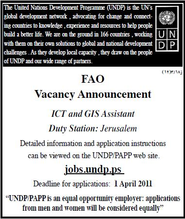 Palestine United Nations|ICT Assistant| Vacancies