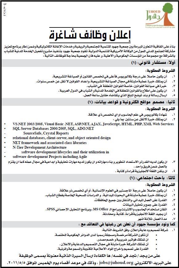 فلسطين|وظائف |جمعية للتنمية|وظائف الفلسطينية