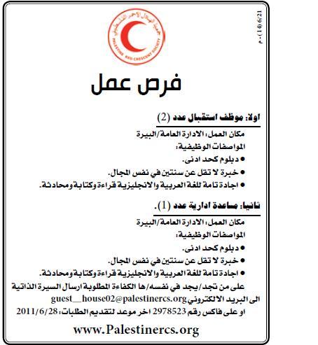 فلسطين,وظائف ,جمعية الفلسطيني, الفلسطينية