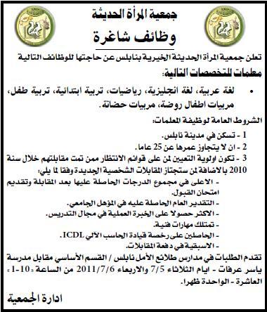 فلسطين,وظائف ,جمعية الخيرية, معلمات,معلمة, شاغرة,وظائف