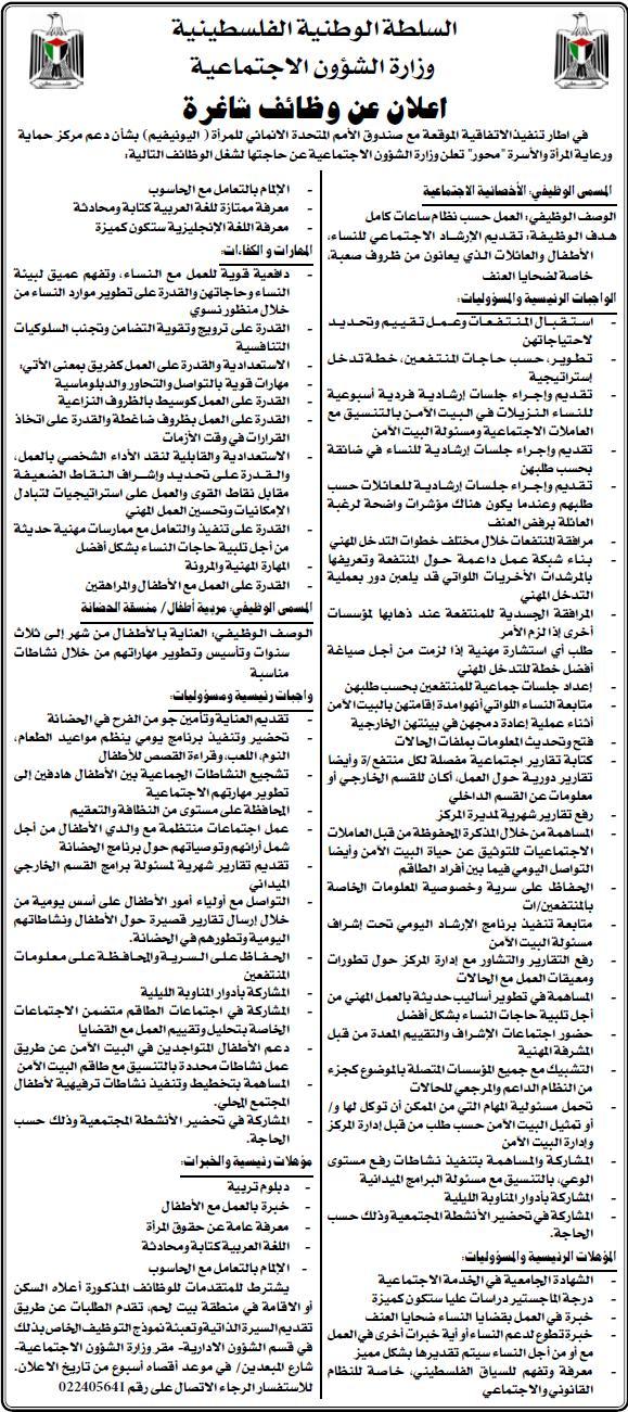 الاجتماعية| الفلسطينية