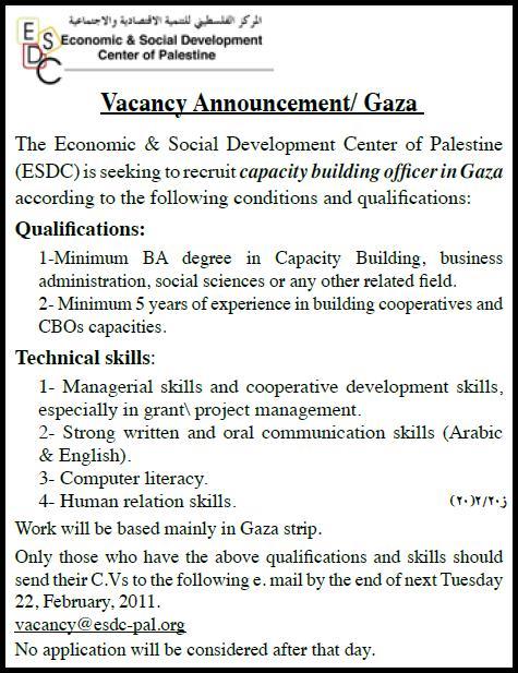 Palestine Economic & Social Development