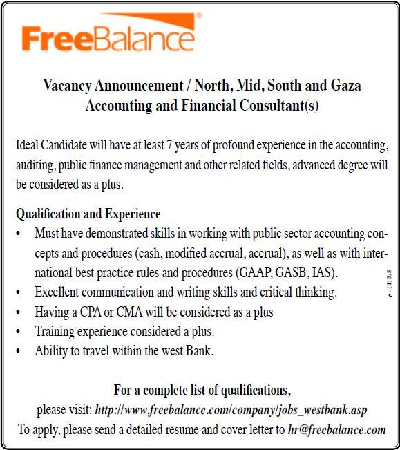 Palestine Free Balance Accounting Financial